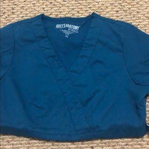 Grey's Anatomy Caribbean Blue Top